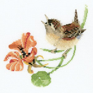 Simply Wren Cross Stitch Kit by Heritage Crafts
