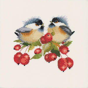 Berry Chick Chat Cross Stitch Kit by Heritage Crafts