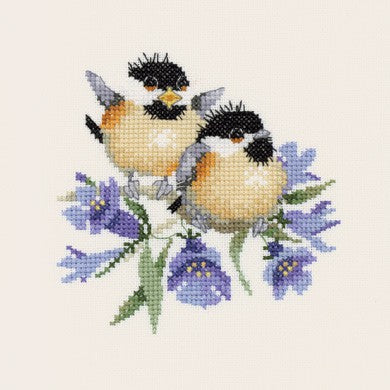 Bluebell Chick Chat Cross Stitch Kit by Heritage Crafts