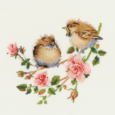 Rose Chick Chat Cross Stitch Kit by Heritage Crafts