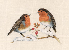 Winter Robins Cross Stitch Kit by Heritage Crafts