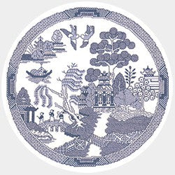 The Willow Pattern Cross Stitch Kit by Heritage Crafts