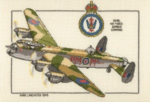 Avro Lancaster Cross Stitch Kit by Heritage Crafts