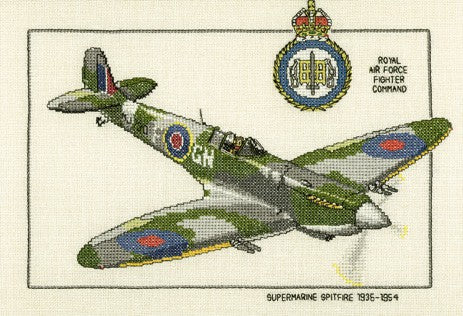 Supermarine Spitfire Cross Stitch Kit by Heritage Crafts