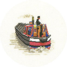 Traditional Narrow Boat Cross Stitch Kit by Heritage Crafts