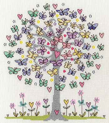 Love Spring Cross Stitch Kit By Bothy Threads