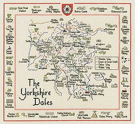 Yorkshire Dales Map Cross Stitch Kit by Heritage Crafts