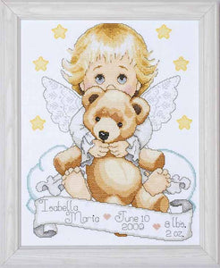 Angel Birth Sampler Cross Stitch Kit By Design Works