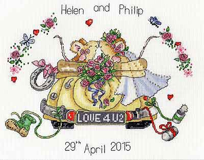 Just Married Cross Stitch Kit By Bothy Threads