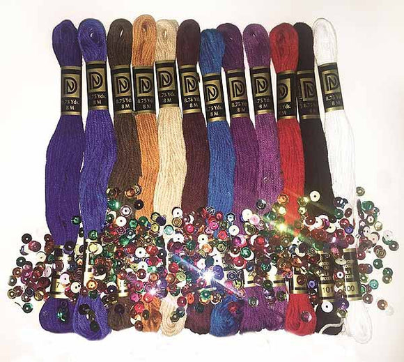Zenbroidery Jewel Tones Trim Pack by Design Works