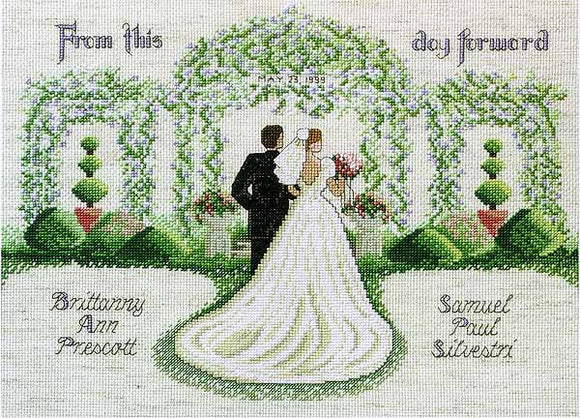 From This Day Forward Wedding Sampler Cross Stitch Kit by Janlynn