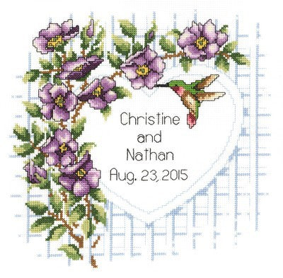 Garden Trellis Wedding Sampler Cross Stitch Kit by Janlynn