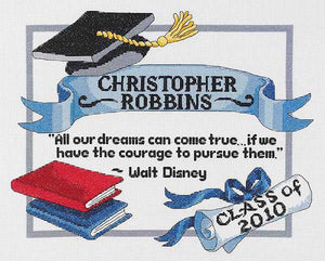 Graduation Dreams Sampler Cross Stitch Kit by Janlynn