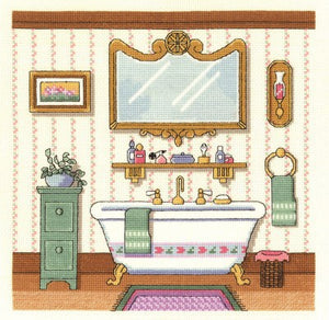 Victorian Bath Cross Stitch Kit by Janlynn