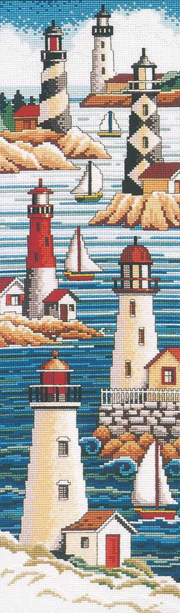 Lighthouses Cross Stitch Kit by Janlynn
