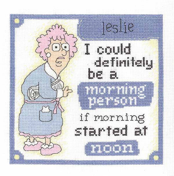 Morning Person Sampler Cross Stitch Kit by Janlynn
