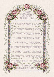 What Cancer Cannot Do Sampler Cross Stitch Kit by Janlynn
