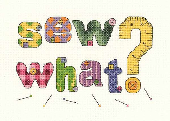 Sew What Sampler Cross Stitch Kit by Janlynn