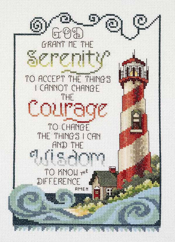 Serenity Lighthouse Cross Stitch Kit by Janlynn
