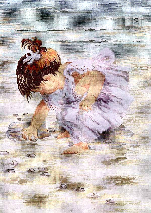 Collecting Shells Cross Stitch Kit by Janlynn