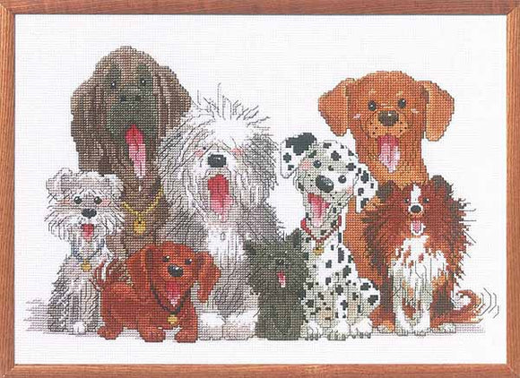 Dogs of Duckport Cross Stitch Kit by Janlynn