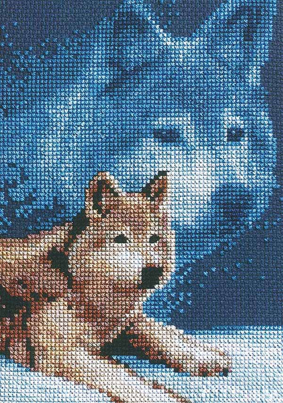 Wolf Cross Stitch Kit by Janlynn