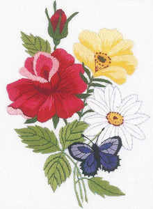 Butterfly and Floral Embroidery Kit by Janlynn