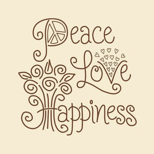 Peace Love and Happiness Embroidery Kit by Janlynn