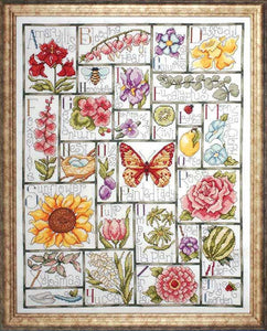 Floral ABC Cross Stitch Kit by Design Works