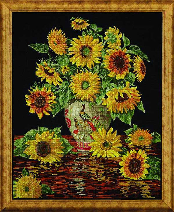 Sunflower Vase Cross Stitch Kit by Design Works