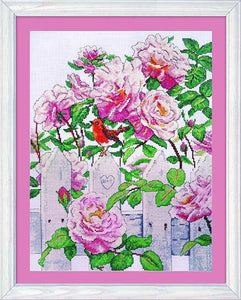 Roses in Provence Cross Stitch Kit by Design Works