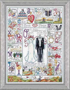 Wedding ABC Wedding Sampler Cross Stitch Kit by Design Works