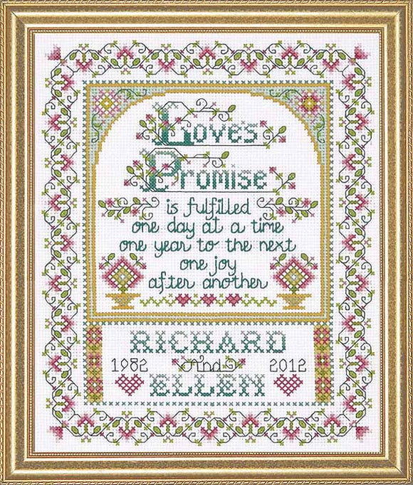 Loves Promise Wedding Sampler Cross Stitch Kit by Design Works