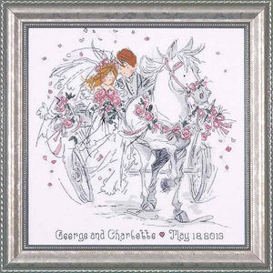 Wedding Carriage Wedding Sampler Cross Stitch Kit by Design Works