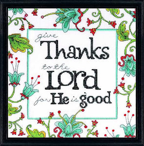 Give Thanks Cross Stitch Kit by Design Works