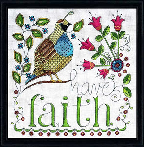 Have Faith Cross Stitch Kit by Design Works