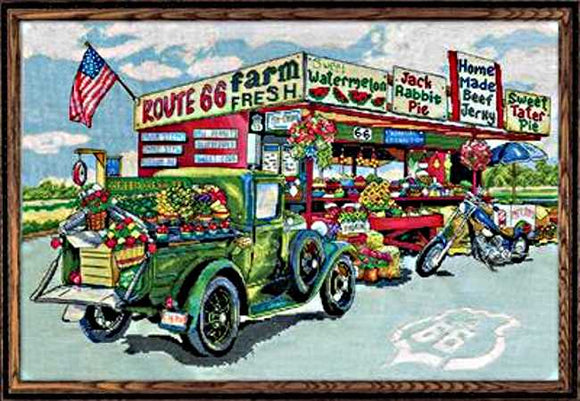 Route 66 Farmstead Cross Stitch Kit by Design Works