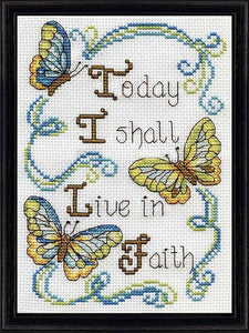 Live in Faith Cross Stitch Kit by Design Works