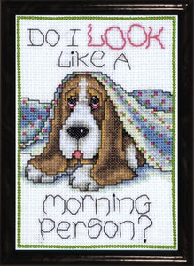Morning Dog Cross Stitch Kit by Design Works