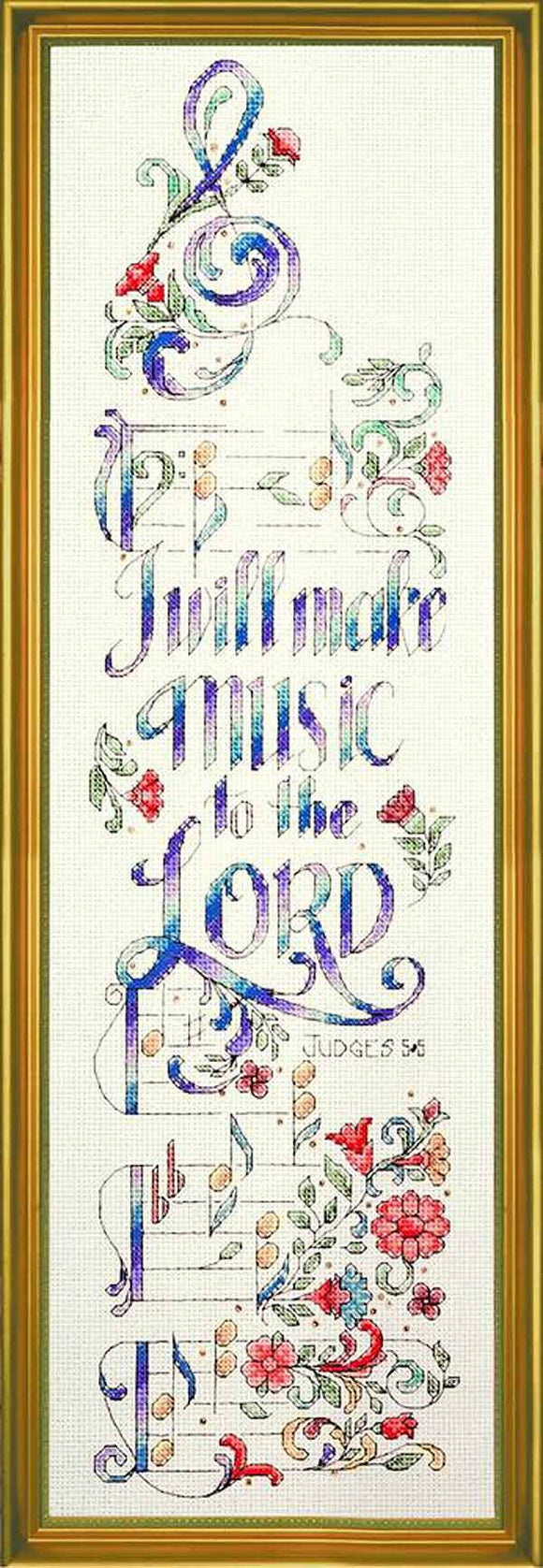I Will Make Music Cross Stitch Kit by Design Works