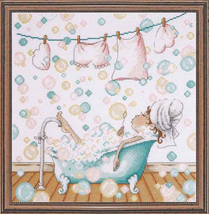 Blowing Bubbles Cross Stitch Kit by Design Works