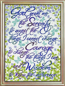 Serenity Prayer Cross Stitch Kit by Design Works