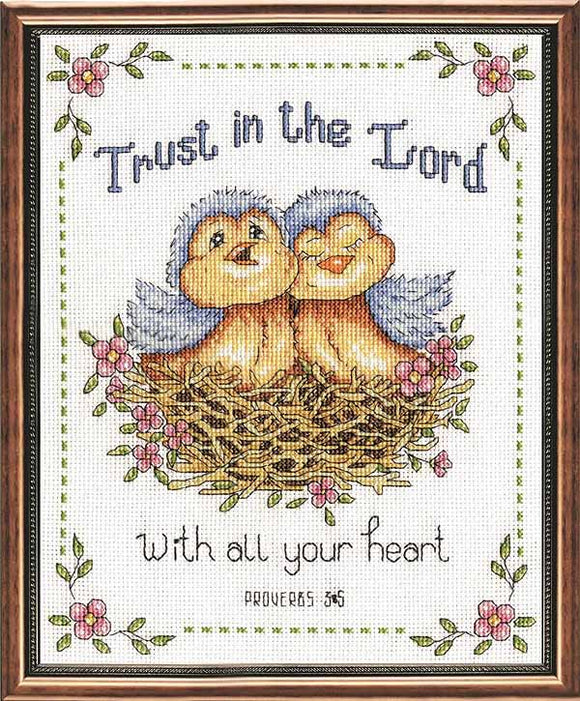Trust in the Lord Cross Stitch Kit by Design Works