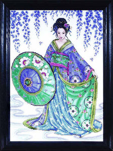 Blue Geisha Cross Stitch Kit by Design Works
