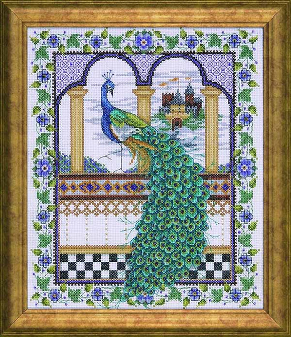 Peacock Cross Stitch Kit by Design Works