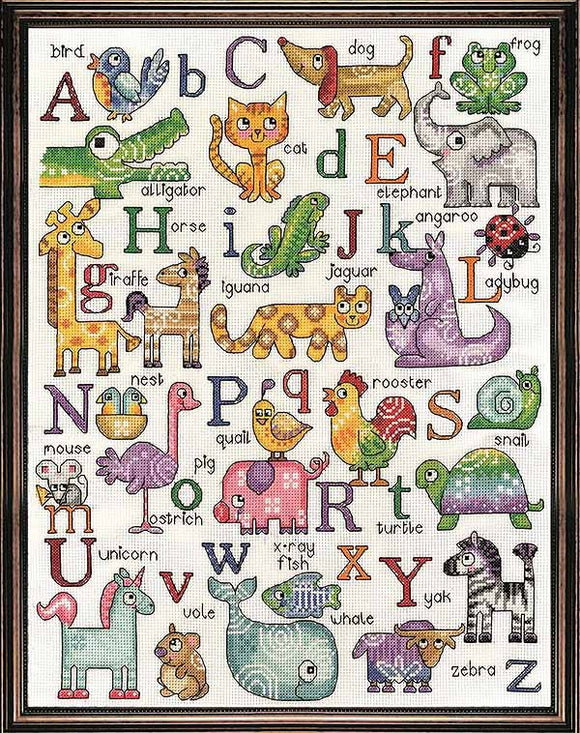 ABC Animals Cross Stitch Kit by Design Works