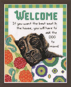 Best Seat Welcome Cross Stitch Kit by Design Works