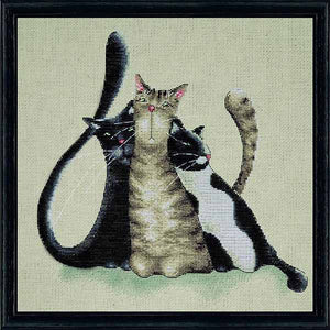Kitty Trio Cross Stitch Kit by Design Works