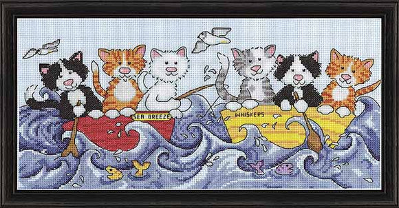 At Sea Cats Cross Stitch Kit by Design Works