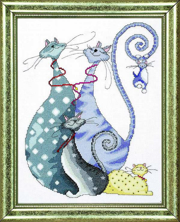 Cat Pack Cross Stitch Kit by Design Works